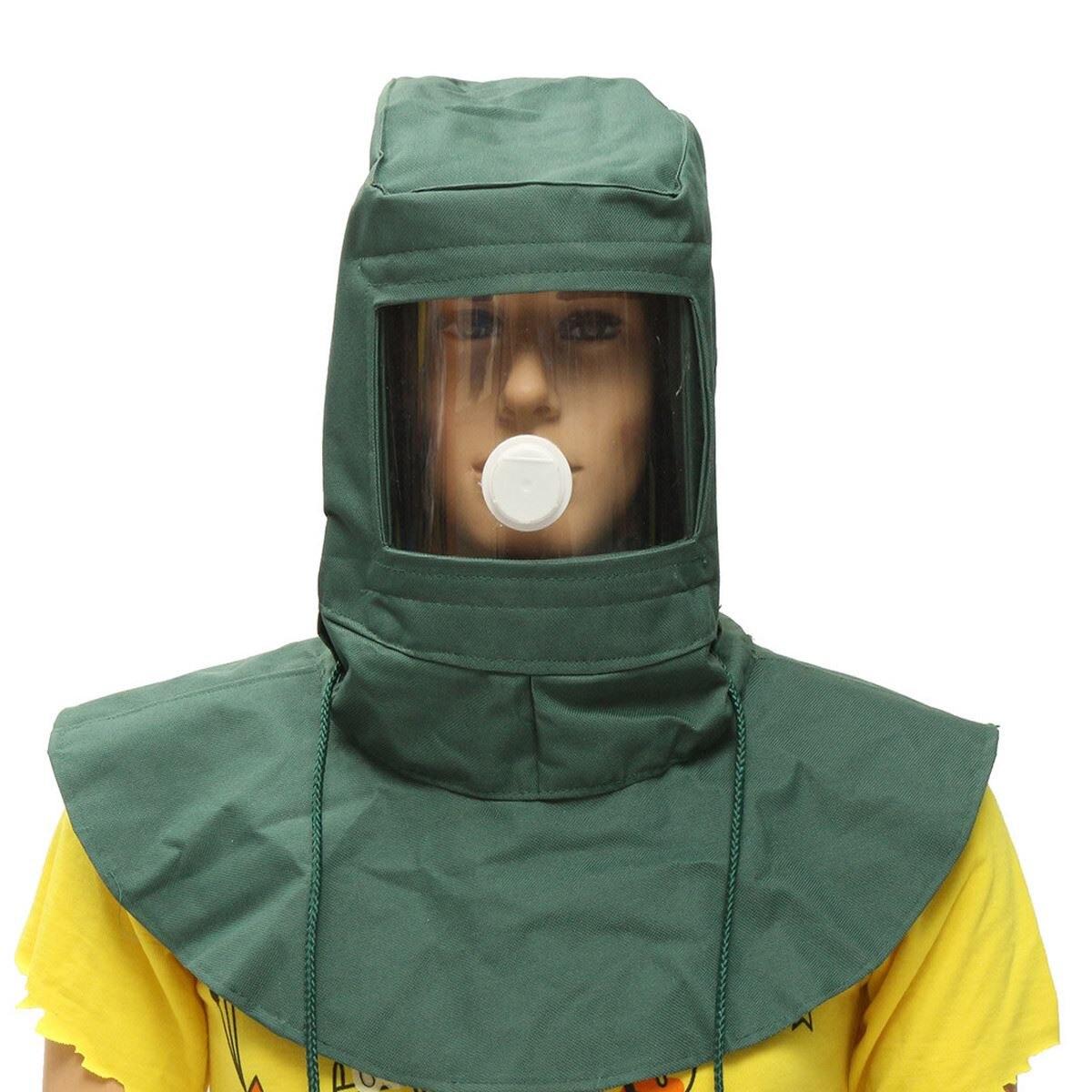 Nuovo Sabbiatura Hood Sand Sabbia Abrasiva Colpo Sabbia Blaster Maschera Polvere Protettiva Tool