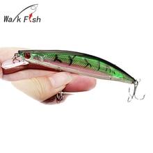 WALK FISH 1Pcs  11cm 12.9g Lifelike 3D Eyes Minnow Fishing Lure 0.2-2.2m Superior Hard Bait With Three Treble Hook