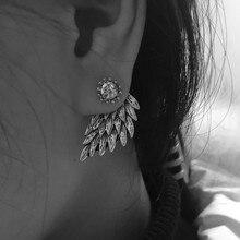 Dámské náušnice pro ženy – andělská křídla s perličkou