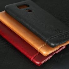 Pierre cardin marca nuevo cuero genuino ultrafino case para lg g6 teléfono case contraportada envío gratis