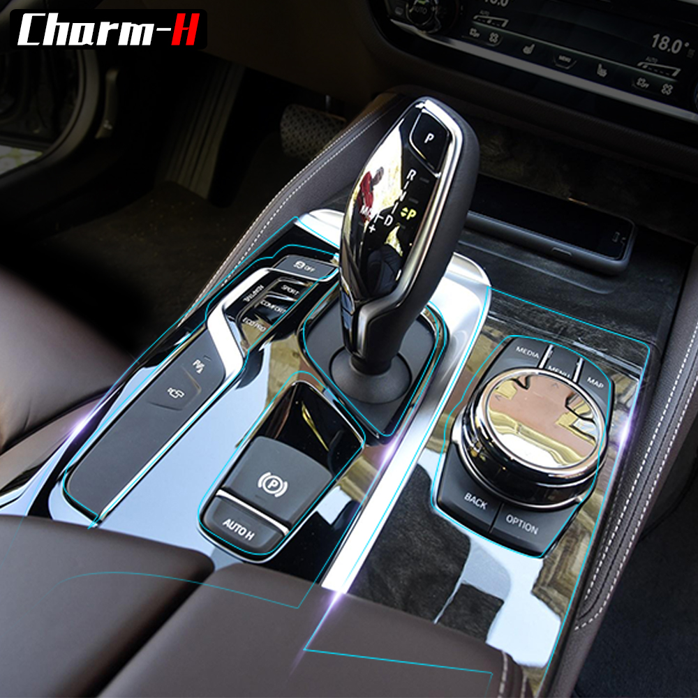 Car Interior Trim Dashboard CD Panel Clear Paint Protective Bra Film Stickers for BMW 5 Series G31 525i 530i 540i G30 2018