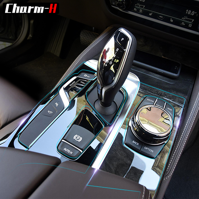 Car Interior Trim Dashboard CD Panel Clear Paint Protective Bra Film  Stickers For BMW 5 Series