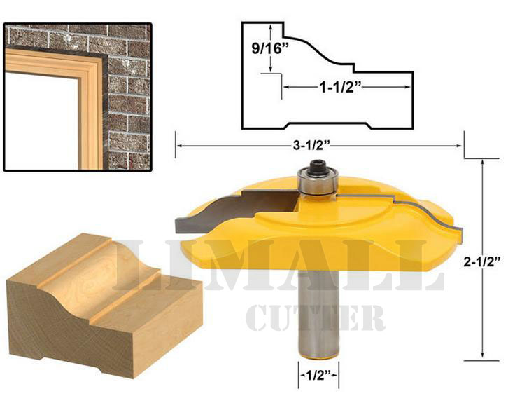SHK:1/2'' Woodworking Milling cutter Knife edge thread  door and window frame cutter bits  цены