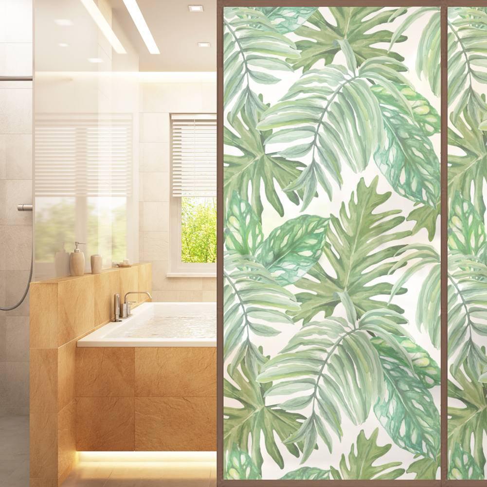 áfrica Tropical Planta Impreso Frosted Ventana De Cristal Pegatinas