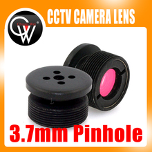 80 Degrees 3.7mm lens IR Filter Metal Button effect Board lens For CCTV Security Camera