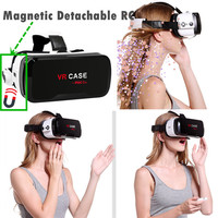 VR Case 6.0 VR Headset with Console Anti Blue Ray Lenses Virtual Reality Glasses for Iphone Samsung 360 Viewing 3D Eyeglasses