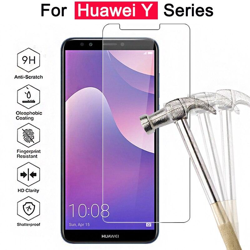 Protective Glass For Huawei Y9 2018 Y5 Y6 Y3 2017 2018 Tempered Glass On The Hauwei Huawey 9y 3y 5y 6y Y 9 3 5 6 Safety Film 9h