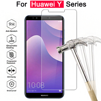 protective glass for huawei y9 2018 y5 y6 y3 2017 2018 tempered glass on the Hauwei Huawey 9y 3y 5y 6y y 9 3 5 6 safety film 9h image