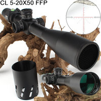ohhunt CL 5 20X50 FFP First Focal Plane Hunting Riflescope Side Parallax Glass Etched Reticle Lock Reset Scope with Bubble Level
