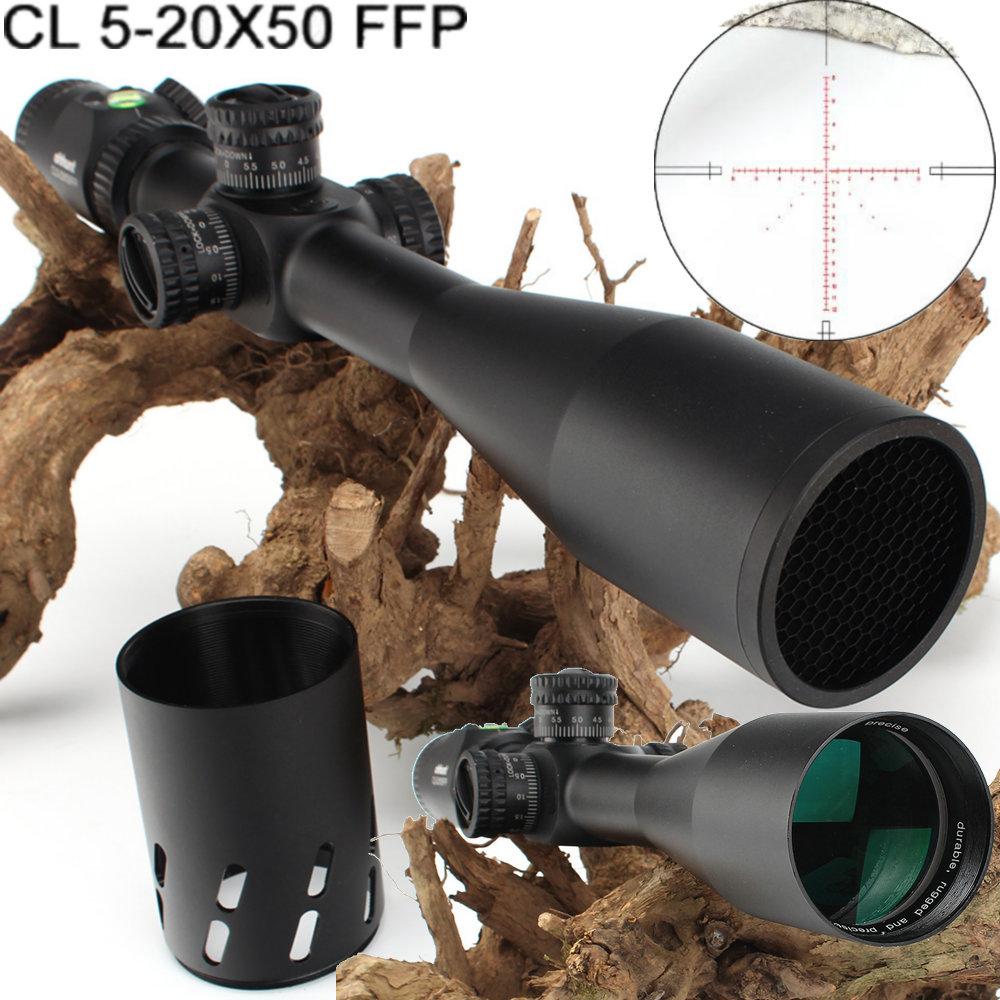 Ohhunt CL 5-20X50 FFP premier plan Focal chasse lunette de visée côté parallaxe verre gravé réticule serrure réinitialiser portée avec niveau à bulle