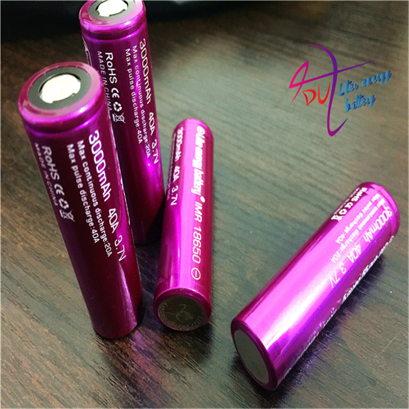 2pcs Laptop Batteries Electronic Cigarette battery 18650 3000mah 40a Li-Mn battery and battery case for vtwo RX2/3 <font><b>RX200s</b></font> image