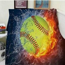 Decken Komfort Wrme Weiches Gemtliches Klimaanlage Pflegeleicht Maschine Waschen Lustige Gelbe Softball
