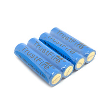 12pcs/lot TrustFire TR18650 3.7V 2500mAh Rechargeable Lithium Protected Battery with PCB Power Source For LED Flashlight