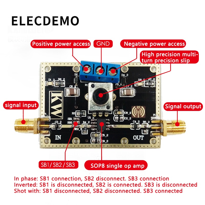 Image 2 - OPA690 Module Wideband Voltage Feedback Operational Amplifier Module 500MHz Bandwidth Open Loop Gain 60dB Function demo Board-in Demo Board Accessories from Computer & Office