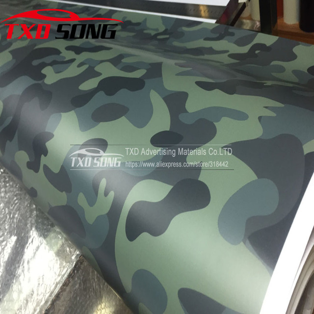 Premium dark green camouflage vinyl wrap film auto sticker vinyls film camouflage car wrap for car