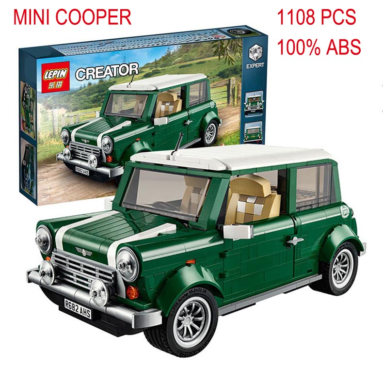 2016 lepin 21002 Creator series the MINI Cooper model Building Blocks set Classic Compatible legoed Technic car toys boy gift free shipping lepin 21002 technic series mini cooper model building kits blocks bricks toys compatible with10242