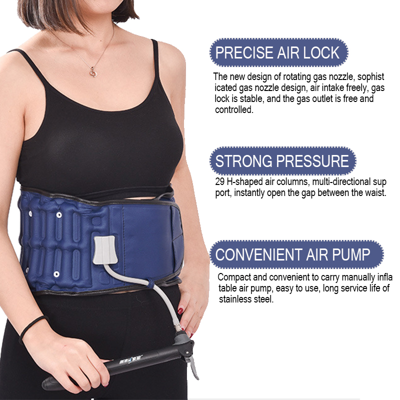Adjustable Traction Waist/Lumbar Orthopedic Belt Inflatable Back Lumbar Fixed Brace Support Belt Relieve Waist Pain Massage Band neoprene orthopedic back brace belt lumbar back support brace waist band relieve lower back pain aft y006