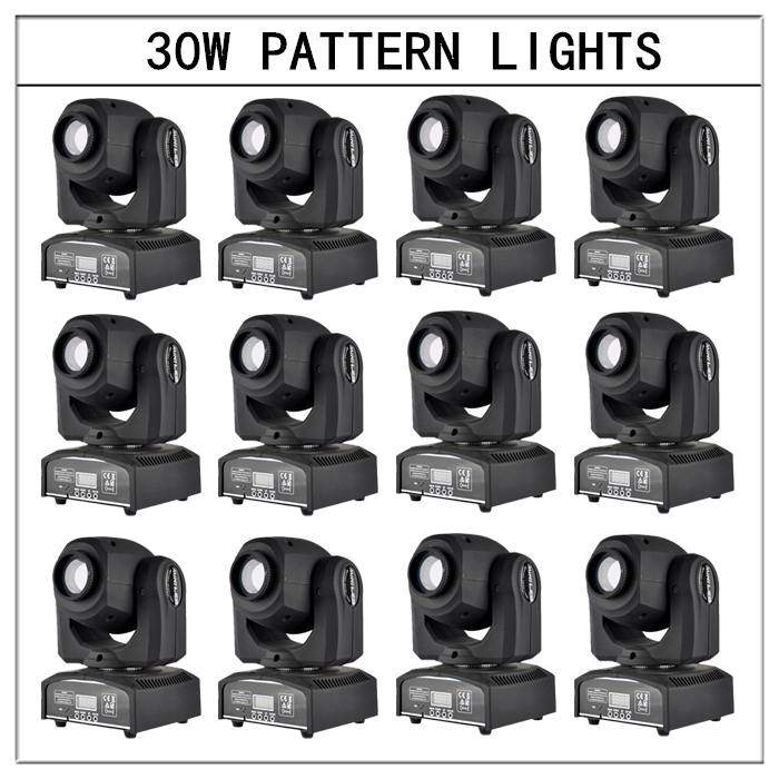 Здесь продается  12pcs/30w pattern lightsmoving head light gobo lights dmx profession stage light dj lights   Свет и освещение