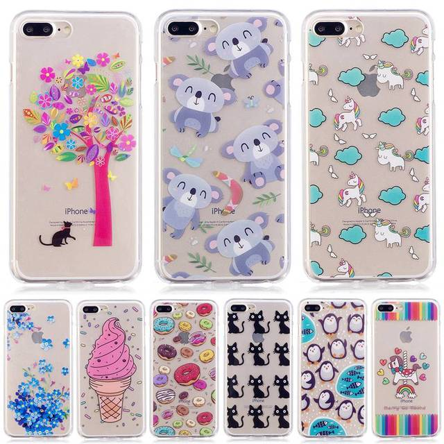hot sale online 02ada cba2b US $1.89 |Soft Cases For Apple iPhone 7 Plus 8 Plus Case TPU Gel For Apple  iPhone 7 Plus 8 Plus Prime Printing Protective Silicone Cover-in ...