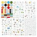 6 pçs/set Coréia Molang Estúpido Mix Super Cute Pet Coelho Diário Adesivos Decorativos