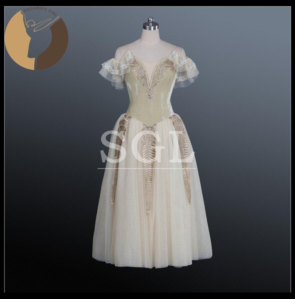 Профессиональная юбка пачка для взрослых, вельветовые длинные шифоновые платья для конкурсов, желтые романтические пачки для девочек AT1175
