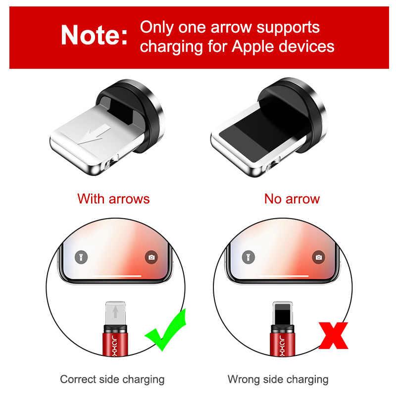 Rexxar Kabel untuk Iphone Samsung Cepat Pengisian Micro USB Kabel Kabel Magnet Charger USB TYPE C 1 M 2 M Ponsel Kabel