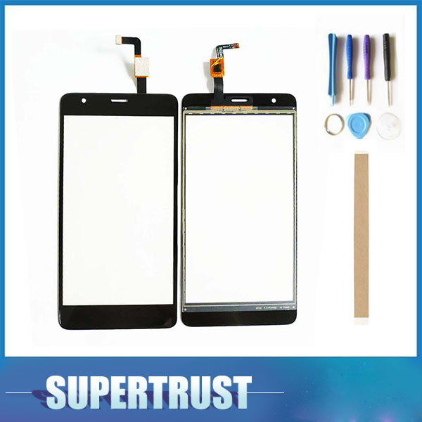 5.5 Inch For Fly Power Plus FHD FS554 Touch Screen Digitizer Front Glass Lens Sensor Panel Black color with tape & Tools image