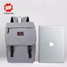 Tigernu mochila portátil de 15.6 pulgadas de moda masculina mochila Mochila para adolescentes mujeres de la vendimia mochila