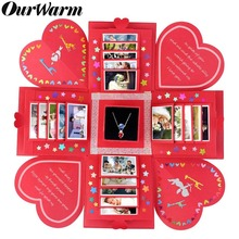 OurWarm DIY Love Explosion Box Red Surprise Gift Birthday Anniversary Valentines Day Gifts Scrapbook Photo Album