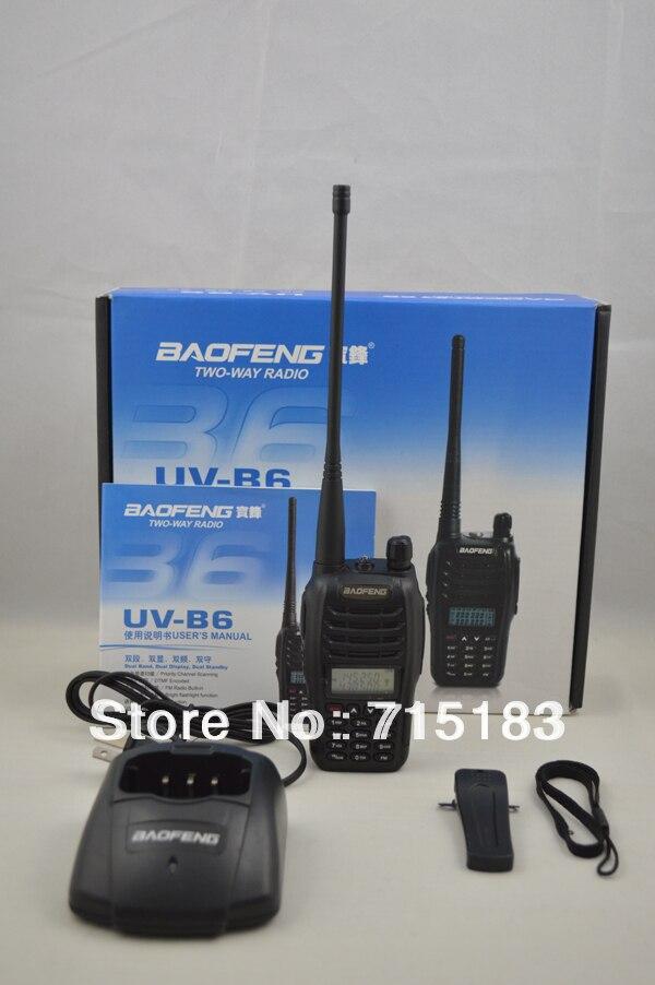 Baofeng UV-B6 Dual Band VHF UHF 5 W 99 Canali FM PMR Portable Two-way Radio Baofeng UV B6 walkie talkie per auto hotelBaofeng UV-B6 Dual Band VHF UHF 5 W 99 Canali FM PMR Portable Two-way Radio Baofeng UV B6 walkie talkie per auto hotel