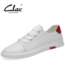 CLAX Mens Shoes Leather 2019 Spring Autumn Male Casual Shoe Leisure Mans Walking Footwear Soft