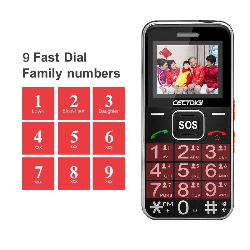 Elder Man Cellphone Senior Russian Mobile Phone 2G GSM Bluetooth Dual SIM Card SOS Button Strong Torch FM Cheap Cell Phones  T88
