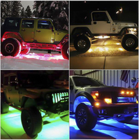 Led Rock Lights 4Pcs with Canbus and Remote Control for 4X4 Off Road Jeep Wrangler Jk Lada Car styling Parking Boating 12V 24V