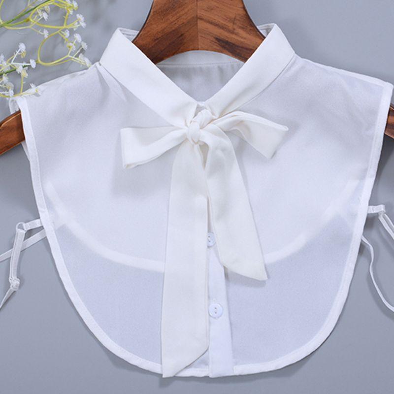 Krawatten & Taschentücher Bekleidung Zubehör Retro Zwei Diamant Bogen Brosche Gefälschte Kragen Dekorative Kragen Hemd Chiffon Kragen Kragen Blume