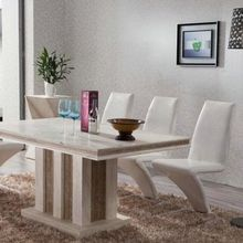 Marble Table Natural Travertine Dining Table Set Luxury High