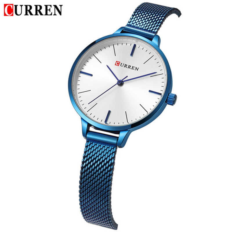 011fd3599824 CURREN Women Watches Top Brand Luxury Ladies Watch Blue Stainless Steel  Band Classic Dress Bracelet Female Clock Lover Gift 9022