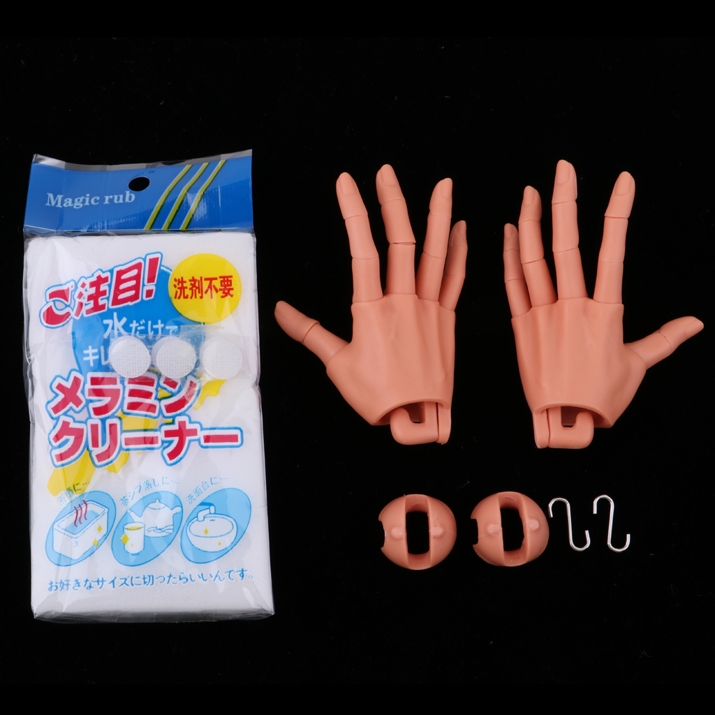 5 Pairs Jointed Hands Body Part for 1//6 BJD AOD Dolls Accs Normal Skin