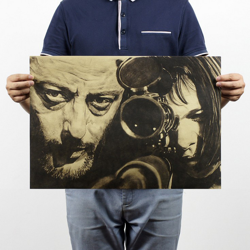 Free shipping,Leon B style/Jean Reno film classic movie/kraft paper/bar poster/Retro Poster/decorative painting 51x35.5cm