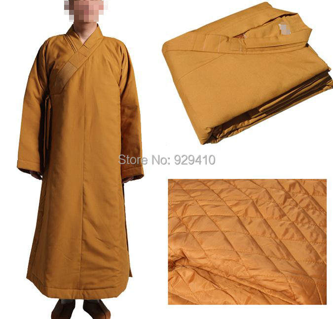 high-grade zen winter warm cotton monk abbot Buddhist suits meditation martial arts robe uniforms lay clothing 2colors