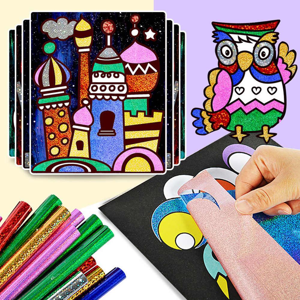 Glitter Carta Magic Art Pittura Bastone Giochi Di Disegno Per Bambini Da Colorare Artigianato Fai Da Te Di Apprendimento Istruzione Di Colore Di Arte Pittura Carte Di Giocattoli Drawing Toys Aliexpress