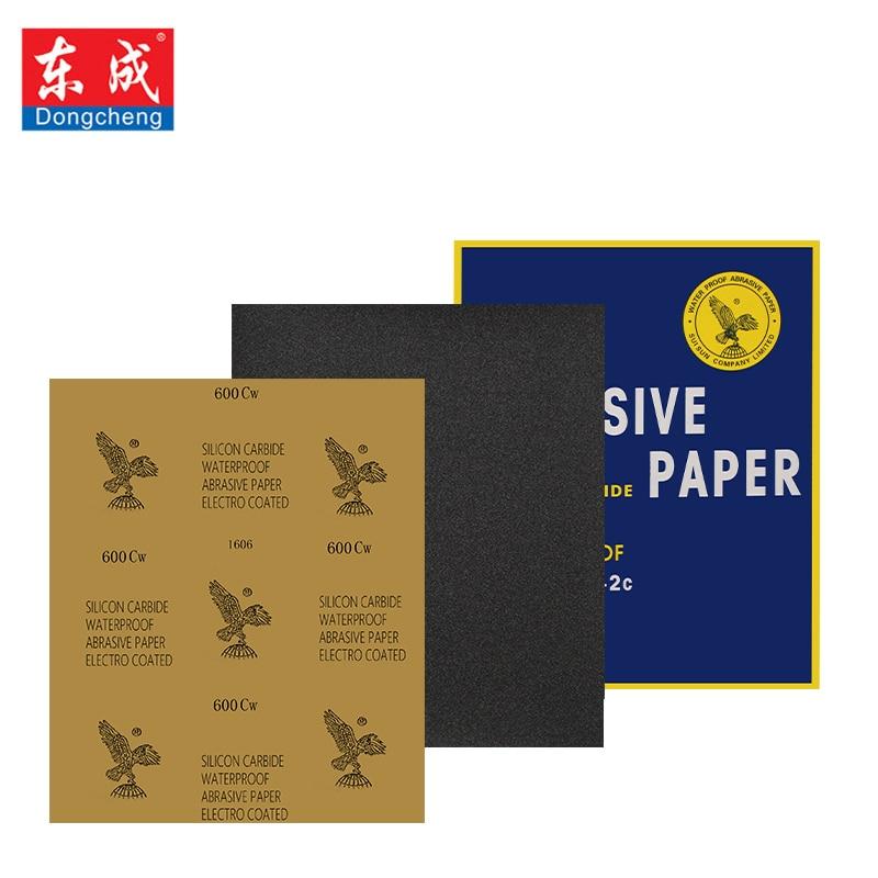 Dongcheng Abrasive Paper Waterproof Sanding Paper Wet Dry Polishing Sandpaper Grit Granularity P80-2000 Metal Wood Abrasive Tool