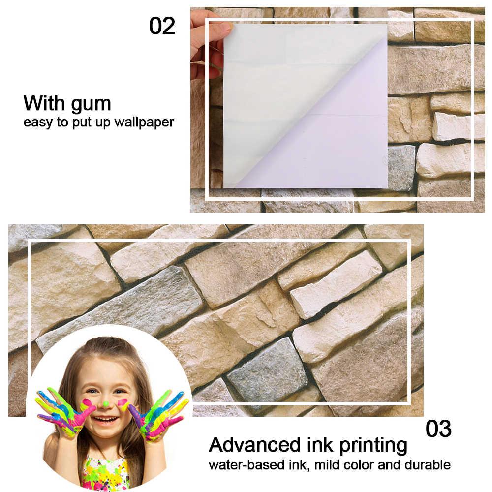 كله بيع رغوة 3D ملصقات جدار الصفتي ديكور خلفية المنزل DIY جدار ديكور الطوب المعيشة غرفة الاطفال غرفة نوم ملصق مزخرفة