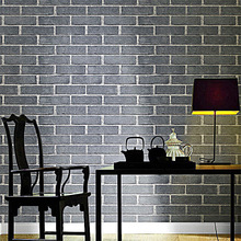 Environment protection 3d Retro thickening false brick pattern non-woven background wallpaper livingroom restaurant high-end