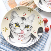 [MPK Pet Store] Cat Design Plate, great choice as a Christmas gift