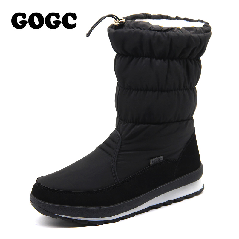 GOGC Russian Famous Brand Winter Boots for Women High Quality Women's Winter Shoes Female Snow Boots Comfortable Women's Shoes