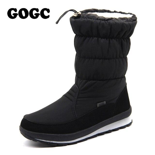Gogc ruso famoso marca botas de invierno para las mujeres de alta calidad de las mujeres zapatos de invierno de nieve botas de las mujeres cómodas zapatos