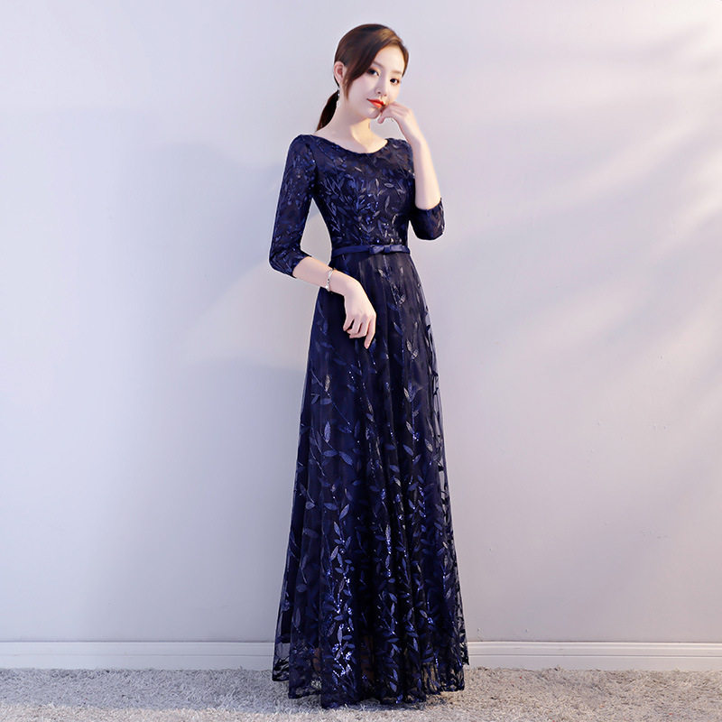 2018 New Costume Long Ankle-length Floral Ball Gown Adult Evening Dress2018 New Costume Long Ankle-length Floral Ball Gown Adult Evening Dress