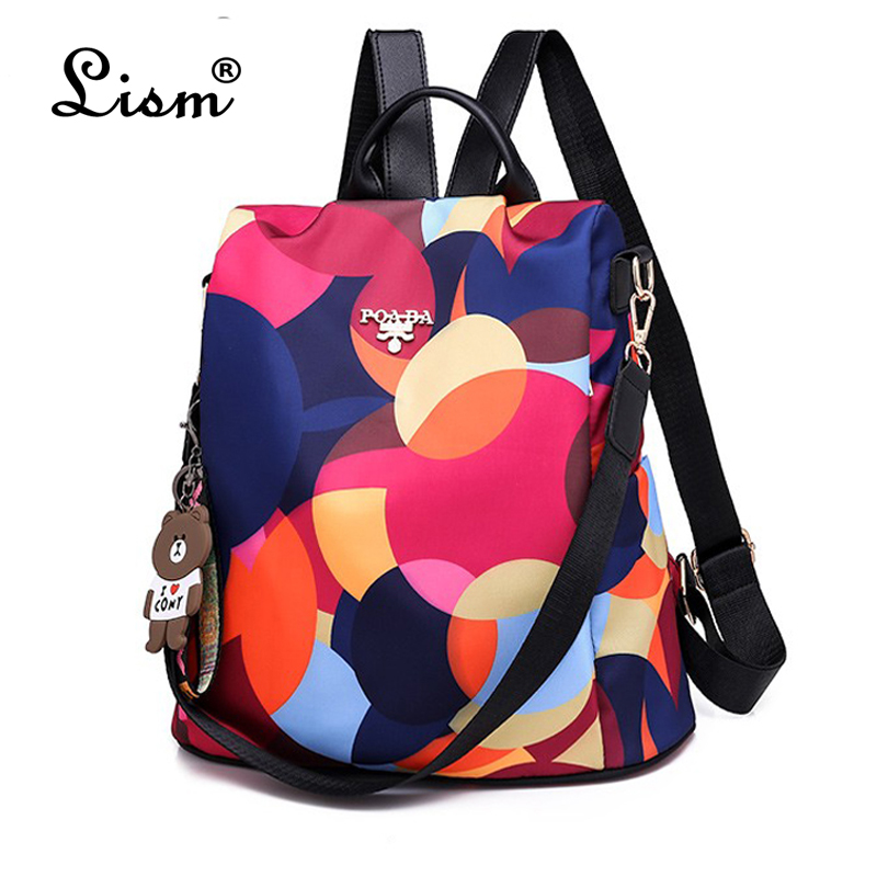 2019 Fashion Multifunction Backpack Women Oxford Backpacks Female Anti Theft Backpack New Schoolbag For Girls Travel Backpack