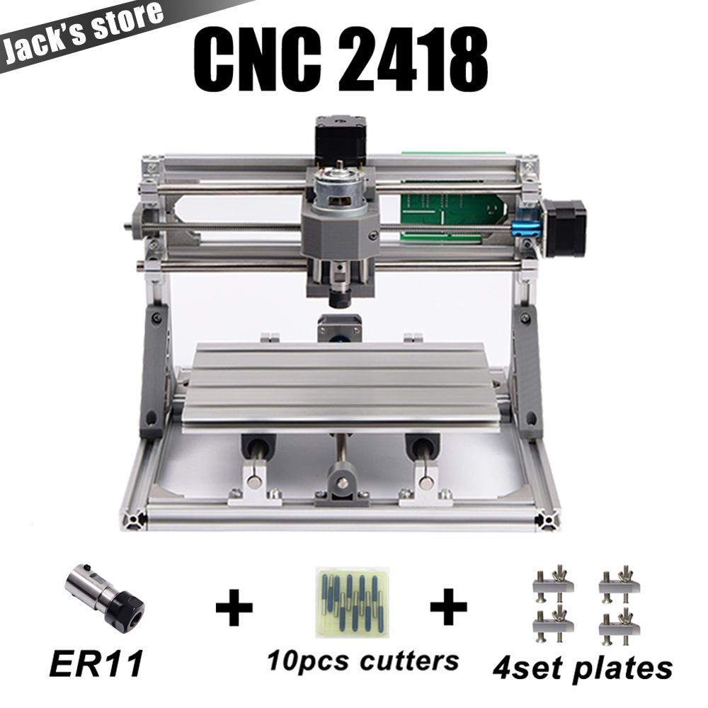 cnc 2418 with ER11,cnc engraving machine,Pcb Milling Machine,Wood Carving machine,mini cnc router,cnc2418, best Advanced toys cnc3018 er11 diy cnc engraving machine pcb milling machine wood router laser engraving grbl control cnc 3018 best toys gifts