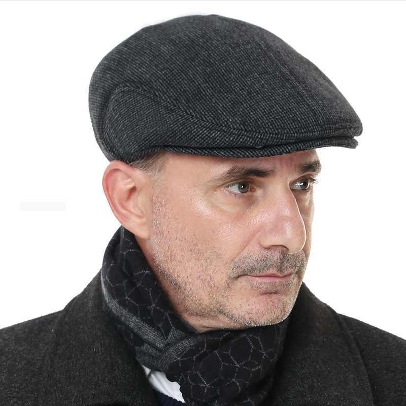 09706a6f73a16 ... Elder Man Winter Warm Hat Male Fashion Winter Warm Fur Hat Mink Hair Hat  Male Cap ...
